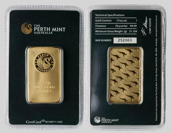 Falešný slitek Perth Mint