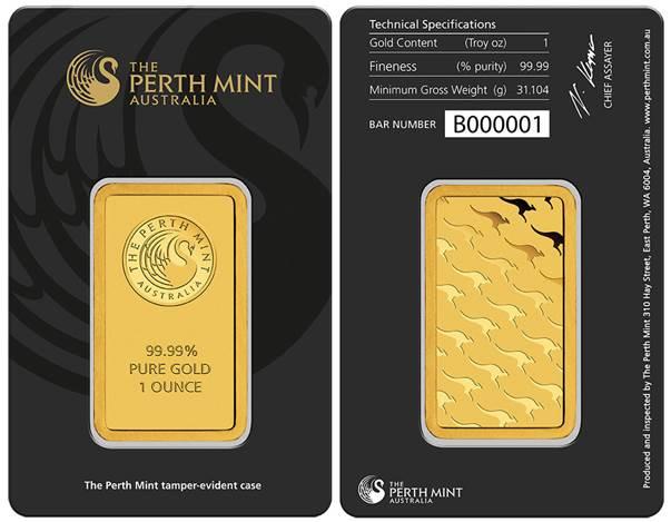Pravý slitek Perth Mint