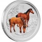 Rok Koně 2014 1kg Ag s drahokamem