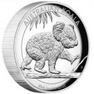 Koala 1 Oz, Vysoký reliéf Proof Ag