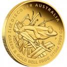Rosnice zlatozelená 2012 Proof 1/10 Oz Au 15 AUD