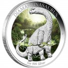 Diamantinasaurus 2015 1oz Ag  Proof - barvená