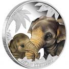 Mateřská láska - Slon asijský 2014 1/2 Oz Ag Proof