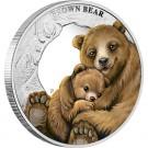 Mateřská láska - medvěd hnědý 2014 1/2 Oz Ag Proof