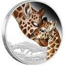 Mateřská láska - Žirafy 2014 1/2 Oz Ag Proof