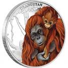 Mateřská láska - orangutan 2014 1/2 Oz Ag Proof