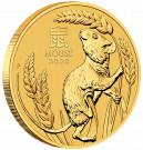 Zlatá mince Rok Myši 1/10 BU 2020 Lunární série III