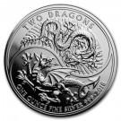 Stříbrná mince Dva draci 1 oz 2018