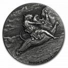 Stříbrná mince Biblická série Samson a lev 2 oz 2019
