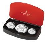 Sada 3 stříbrných mincí Rok Vepřeproof 1/2 oz, 1 oz, 2 oz proof 2019