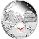 Poklady Světa - Evropa/Granáty 2013 Proof 1/1 Oz Ag