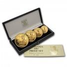 Britannia-sada 4 mincí Proof 1,85 Oz Au 1987