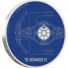 Star Wars Ships: TIE Advanced X1™ 1 Oz Ag