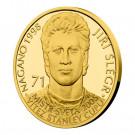 Zlatá mince Legendy čs. hokeje Jiří Šlégr 1/4 oz proof 2019