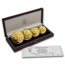 Královna matka-sada 4 mincí Proof 1,85 Oz Au 1990
