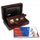 Britannia Premium-sada 3 mincí Proof 0,4 Oz Au 2014