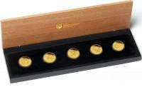 Discover Australia 2011 - sada 5 zlatých mincí 1/2 Oz
