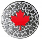 Maple Leaf - planoucí srdce 2018 1/4 Oz Ag Proof