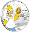 Stříbrná mince Simpsonovi - Homer 1 oz proof 2019