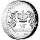 Královna Alžběta II. - 90. výročí narození 2016 Proof 1/1 Oz Ag - vysoký reliéf