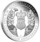 Královna Alžběta II. - 65. výročí korunovace 1 Oz Ag Proof