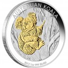 Koala 2013 1 Oz Ag - zlacená