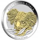 Koala 2014 1 Oz Ag - zlacená