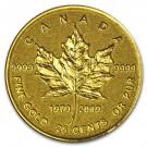 Zlatá mince 40. výročí Maple Leaf 0,5 g proof 2019
