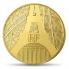 Eiffelova věž 2014 Proof 5 Oz Au 500 Eur