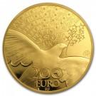 70 let míru v Evropě  2015 Proof 1 Oz Au 200 Eur