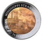 Mississippi Steamboat 2015 Proof 5 Oz Ag - perleť