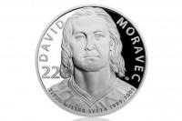Stříbrná mince Legendy čs. hokeje David Moravec 29 g proof 2018