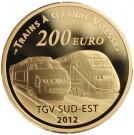 Nádraží Lyon-Saint-Exupéry TGV  2012 Proof 1 Oz Au 200 Eur