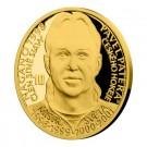 Zlatá mince Legendy čs. hokeje Pavel Patera 1/4 oz proof 2018