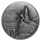 Stříbrná mince Biblická série Pokušení Krista 2 oz 2018
