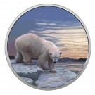 Lední medvěd a polární záře 2018 Proof 2 Oz Ag