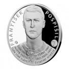 Stříbrná mince Legendy čs. hokeje František Pospíšil 29 g proof 2018