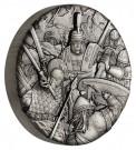 Válka: Římské legie 2 oz Ag, vysoký reliéf, antique finish