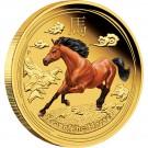 Rok Koně 2014 Proof 1/10 Oz Au - barvený