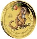 Rok Opice 2016 Proof 1/10 Oz Au 15 AUD-barvená