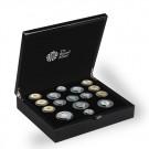 Sada 16 památných mincí z Velké Británie