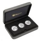 Sada 3 stříbrných mincí s vysokým reliéfem 2018