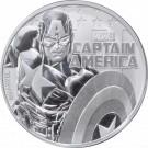 Stříbrná mince Captain America 1 oz BU 2019