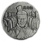Stříbrná mince Terakotová armáda 5 Oz antique polished 2019