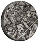 Válka: Husaři 2 oz Ag, vysoký reliéf, antique finish