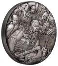 Válka: Vikingové 2 oz Ag, vysoký reliéf, antique finish