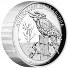 Kookaburra (Ledňáček) 2016 Proof Vysoký reliéf 5 Oz Ag
