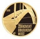 Žďákovský obloukový most Proof 1/2 Oz Au