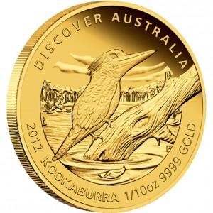 Kookaburra (Ledňáček) 2012 Proof 1/10 Oz Au 15 AUD