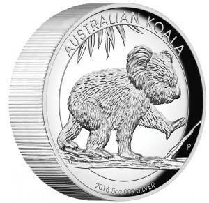 Koala 5 Oz, Vysoký reliéf Proof Ag